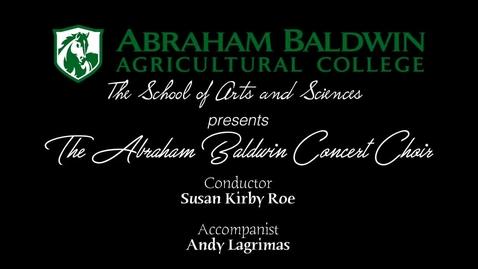 Thumbnail for entry Spring 2018 Choir Concert
