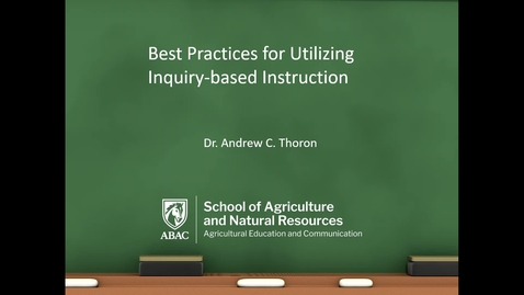 Thumbnail for entry Inquiry-based Instruction 101