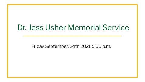Thumbnail for entry Jess Usher Memorial