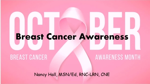 Thumbnail for entry Breast Cancer Awareness- October 1st 2020, 5:47:07 pm
