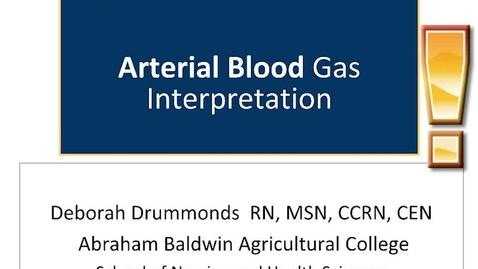 Thumbnail for entry Drummonds Arterial Blood Gas Interpretation Feb 17 2020