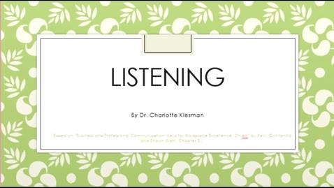 Thumbnail for entry C3100 Listening - September 14th 2020, 3:32:53 pm