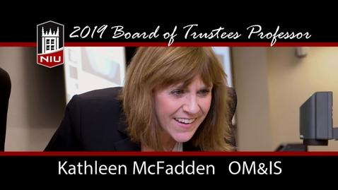 Thumbnail for entry 2019 NIU Board of Trustees Professor - Kathleen McFadden
