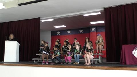 Thumbnail for entry Wild Peach Elementary Awards 5.25.2021 - Kindergarten Morra