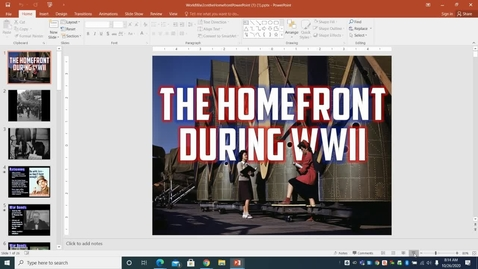 Thumbnail for entry Homefront of WWII - Google Docs