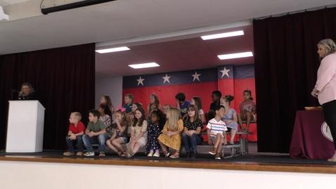 Thumbnail for entry Wild Peach Elementary Awards 5.25.2021 -  Kindergarten Hickman