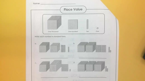 Thumbnail for entry Jan. 12- Place Value Review #2