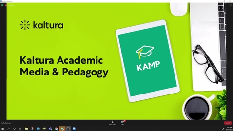 Thumbnail for entry KAMP Session 2: Using Video in the Fully Online Environment for Improved Personalization and Student Engagement
