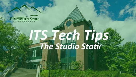 Thumbnail for entry Studio Station Tutorial First Video