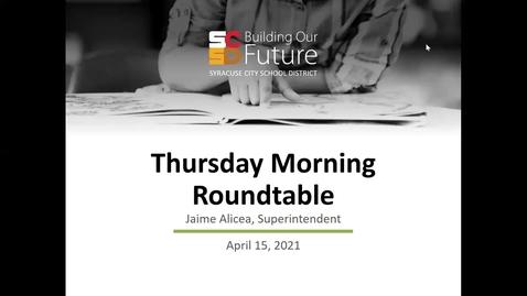 Thumbnail for entry Thursday Morning Roundtable: Superintendent Jaime Alicea