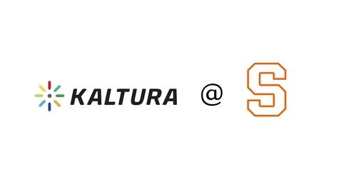 Thumbnail for entry Introducing Kaltura at Syracuse University