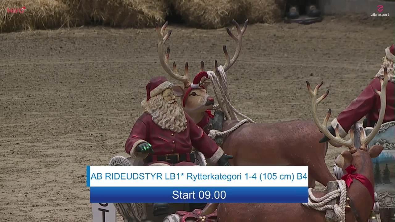 AB RIDEUDSTYR LB1* (105 cm) at Christmas Show Warm Up Horse 2019
