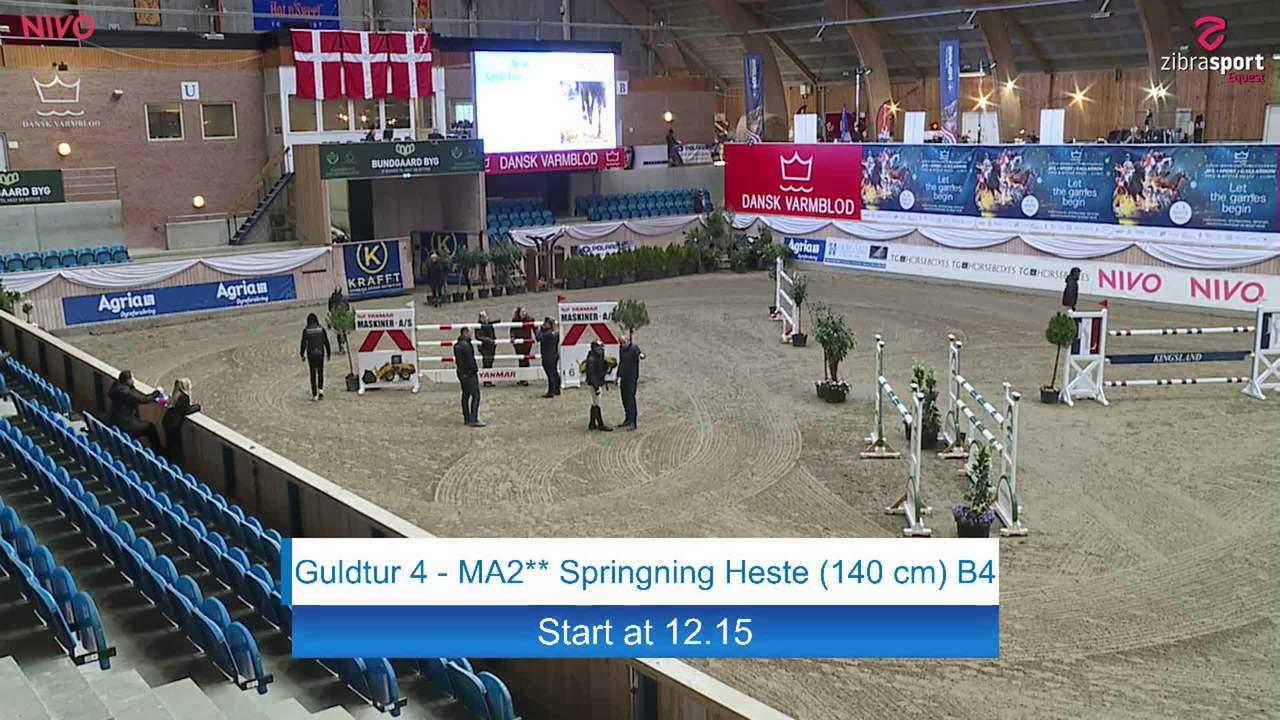 Gold Tour MA2 (140 cm) at the DRF jumping championship at Vilhelmsborg 2020