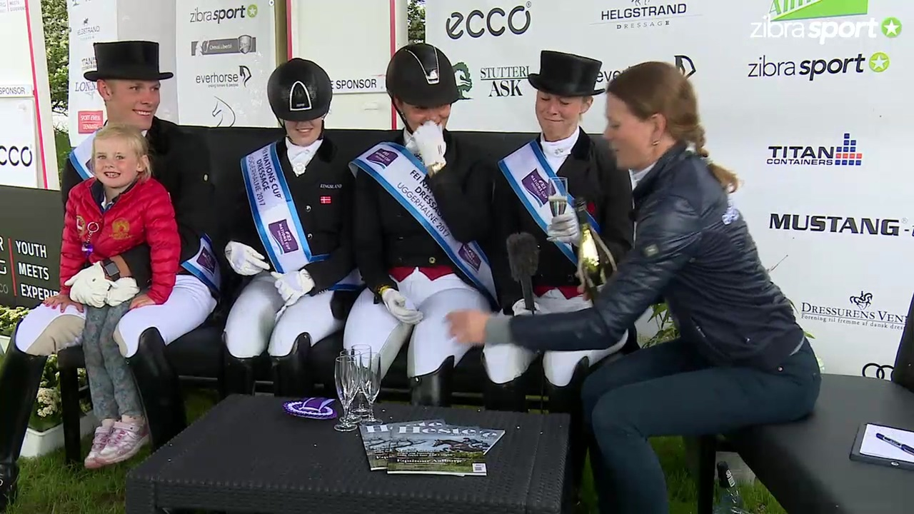 Riders Corner with the winners of Nations Cup in dressage at Equitour Aalborg 2017