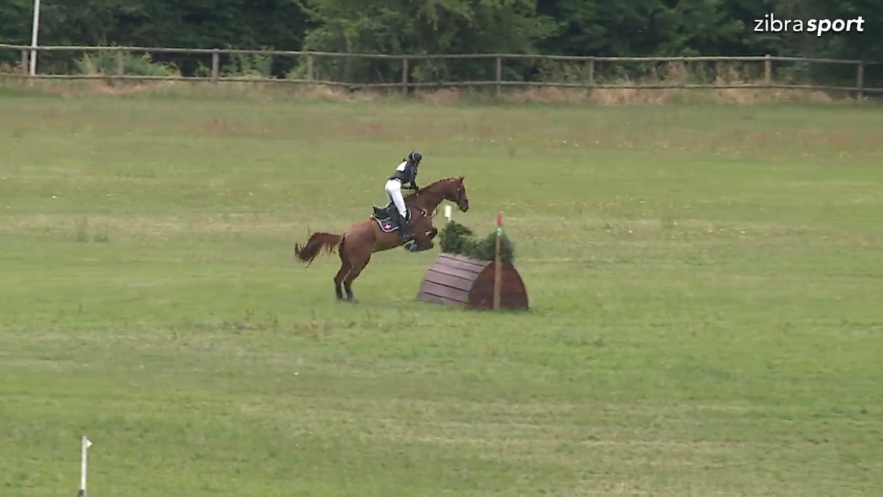 Class 2 cross-country CNC1* B at DRF championship in eventing 2018