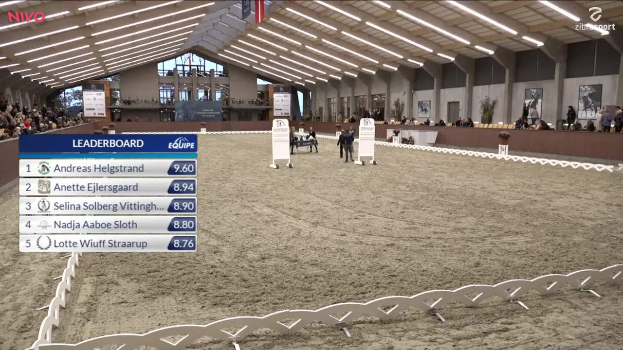 Prize giving at DRF Championat dressage finals at Blue Hors