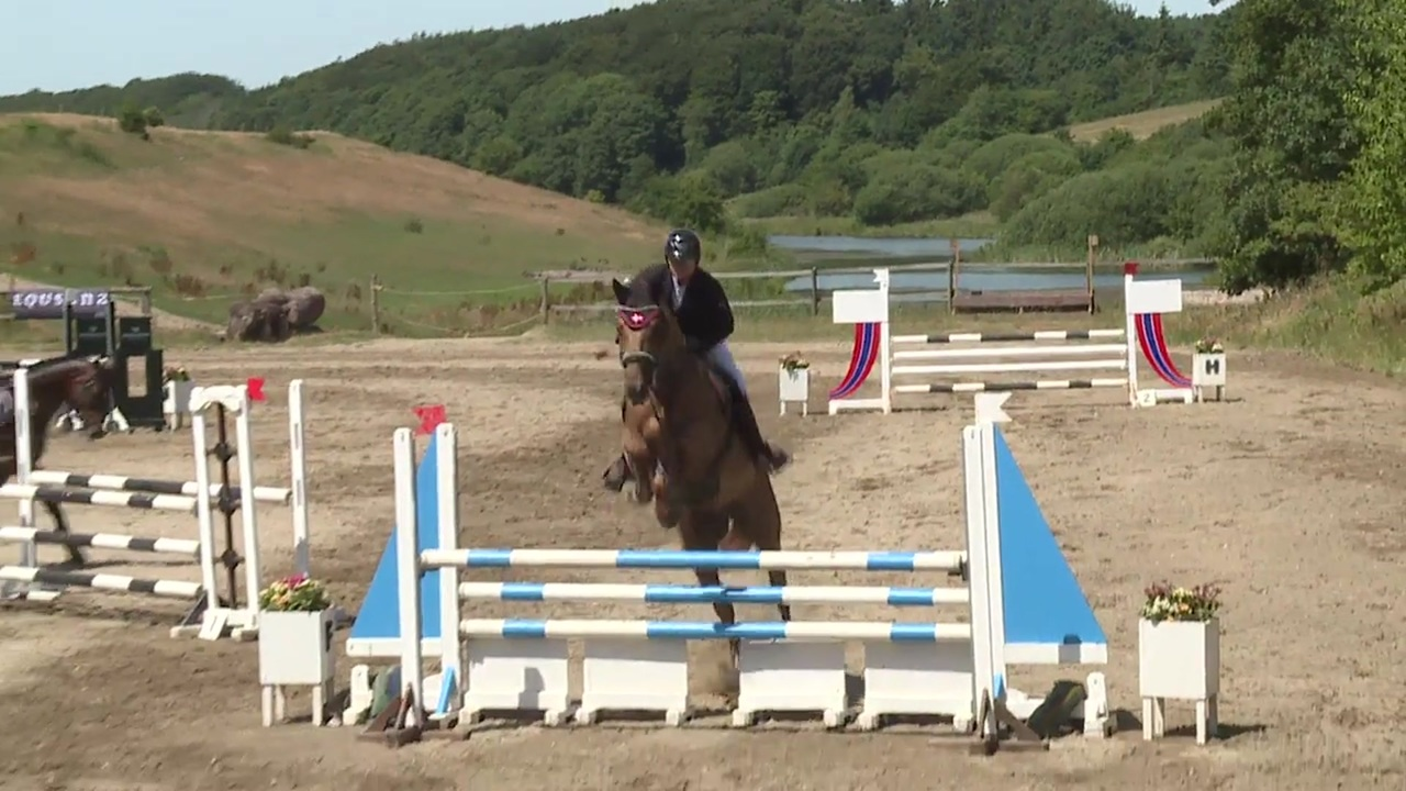 CNC90 Horse jumping at the DRF Championship in eventing 2018