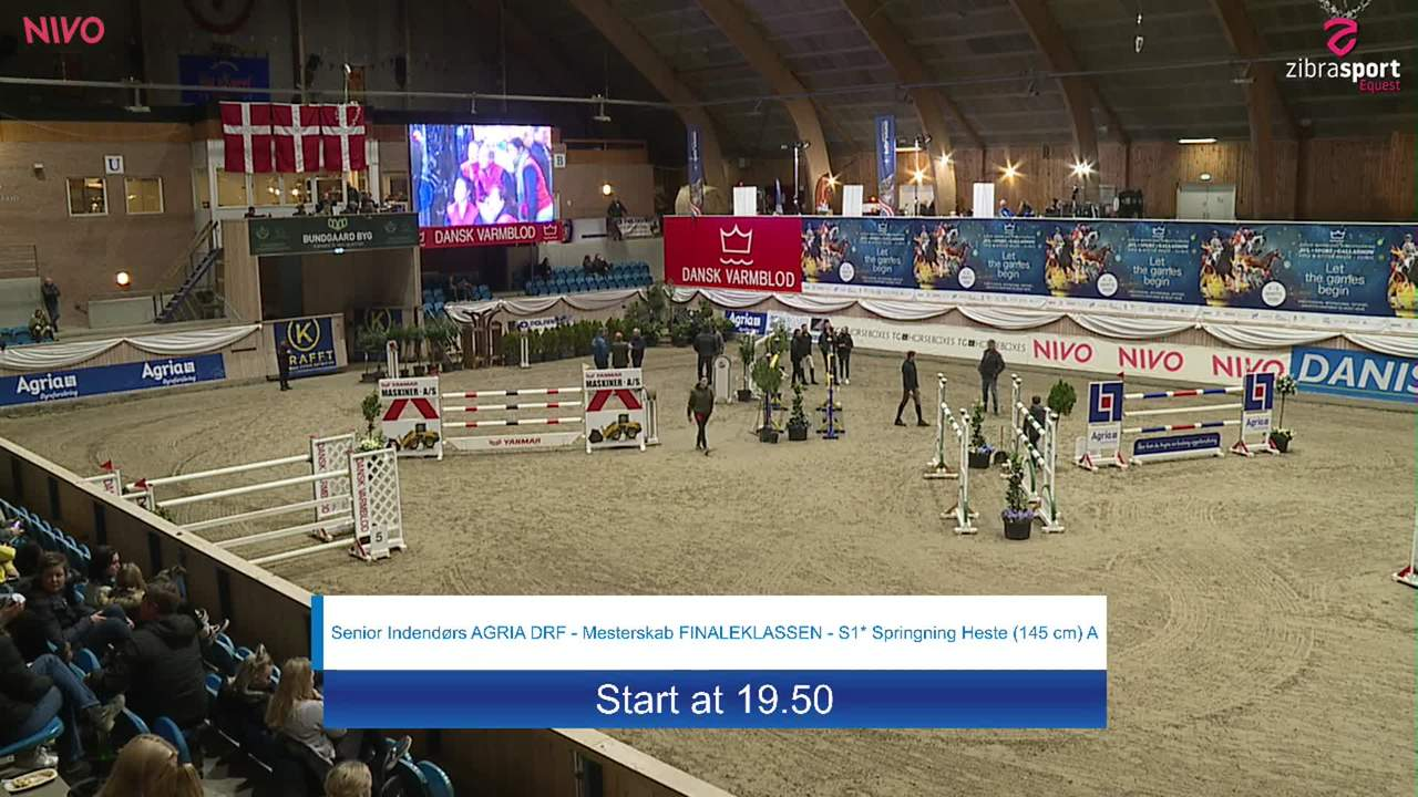 Senior indoor AGRIA DRF-Championship S1 Jumping Horses (145 cm) A at the DRF jumping championship at Vilhelmsborg 2020