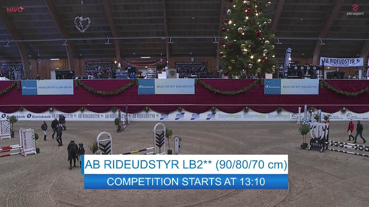 2. afd. AB RIDEUDSTYR LB2**  kat. III ved Christmas Show Warm Up for pony 2019