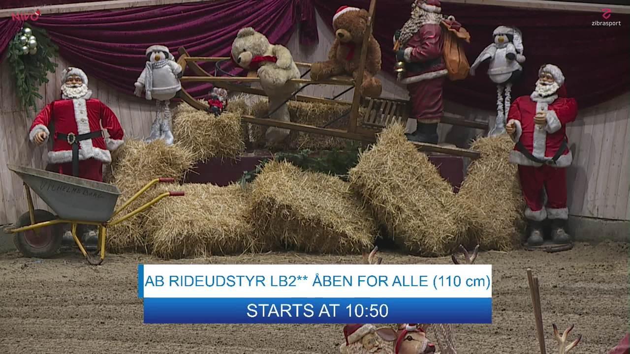 AB RIDEUDSTYR LB2** (110 cm) at Christmas Show Warm Up Horse 2019