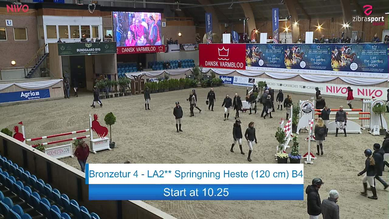First part of Bronze tour 4 – LA2** jumping (120 cm) at the DRF jumping championship at Vilhelmsborg 2020