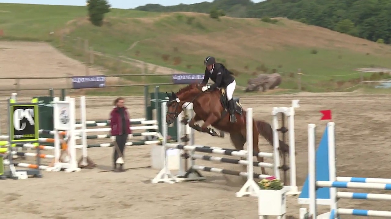 0.80m Metode A jumping at the DRF Championship in eventing 2018