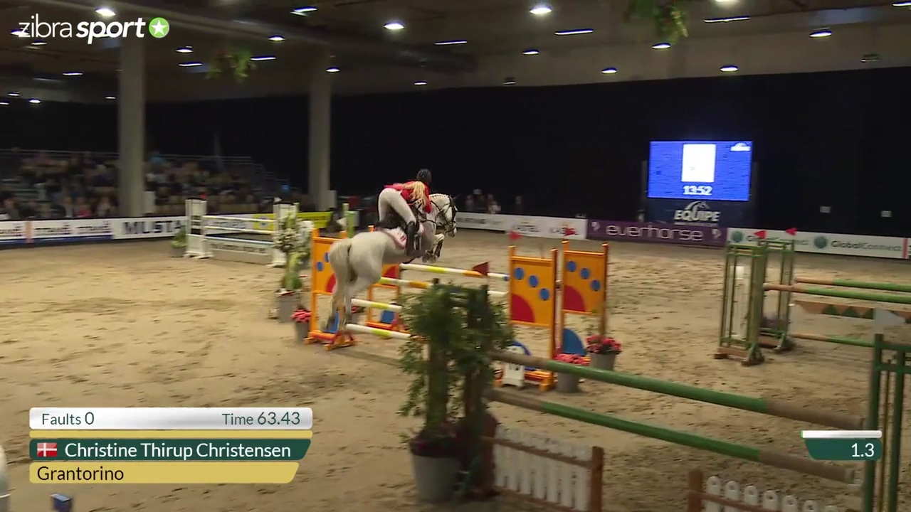 Jump-off in CSIP Big Tour Grand Prix 1.30m at Odense Horse Show 2016