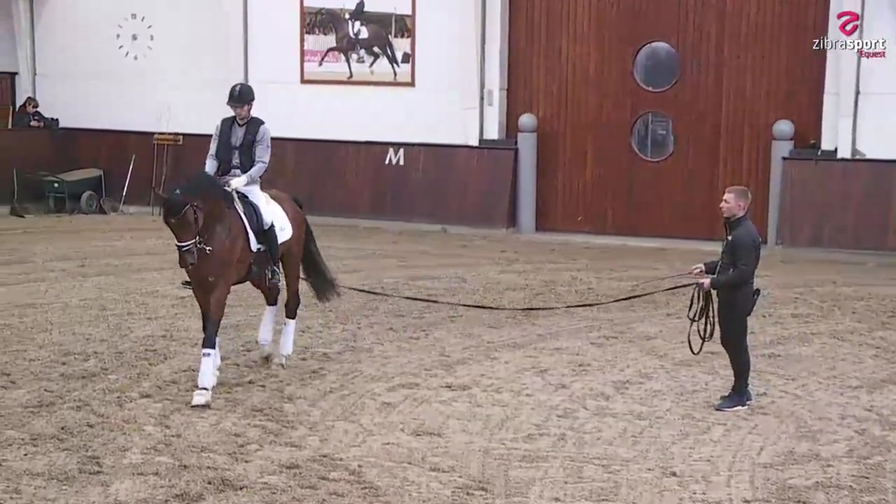 Watch the practical part of the young horse lesson from the clinic at Helgstrand Dressage February 2020