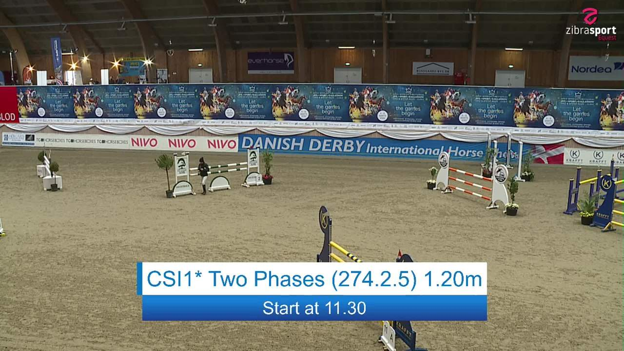 Se CSI1* Two Phases 1.20m ved Danish Derbys internationale springstævne på Vilhelmsborg 2020