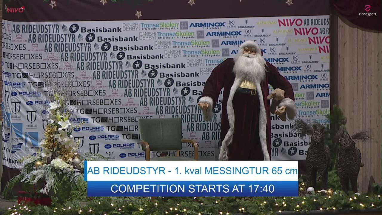 AB RIDEUDSTYR 1. kval. MESSINGTUR ved Christmas Show Warm Up for pony 2019