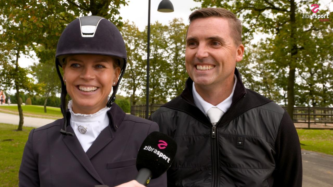 Marianne og Andreas Helgstrand blev etter og treer i finalen for 7-års