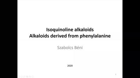 Thumbnail for entry Bensylisoquinoline alkaloids