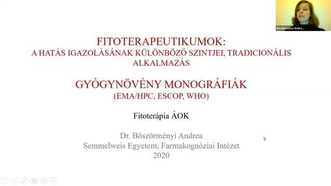Thumbnail for entry Fitoterpaeutikumok, Gyógynövény monográfiák
