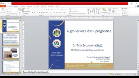 Thumbnail for entry Dr. Tóth Zsuzsanna - A gyökérkezelések prognózisa