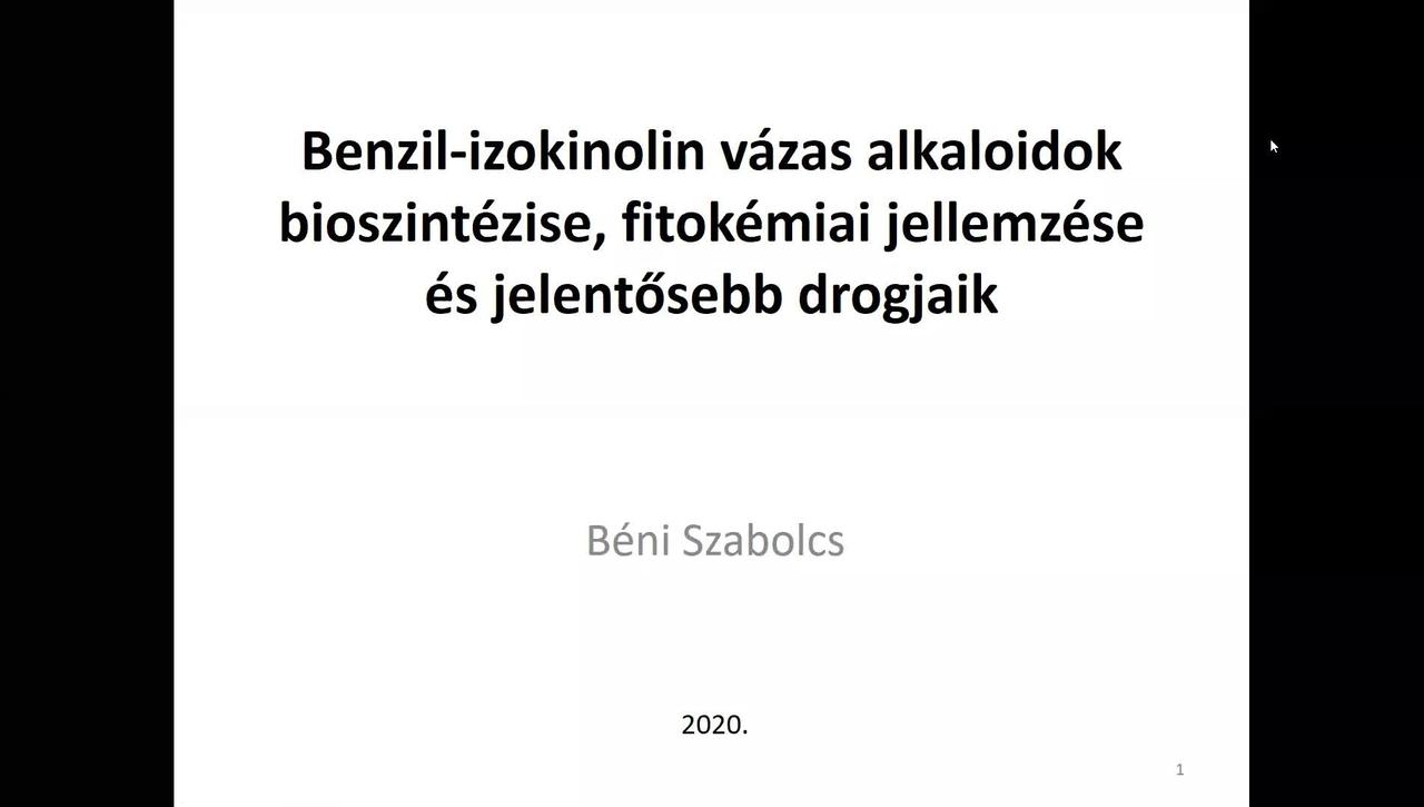 Benzil-izokinolin vázas alkaloidok