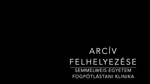 Thumbnail for entry Arcív felhelyezés Kaltura csatorna