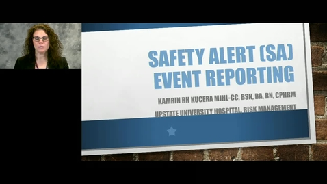 Thumbnail for entry Credentialed Provider - Safety Alert (SA) Event Reporting