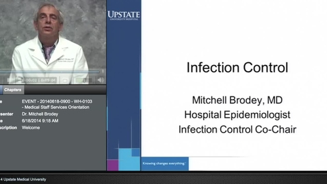 Thumbnail for entry Credentialed Provider Orientation - Infection Control and Universal Precautions