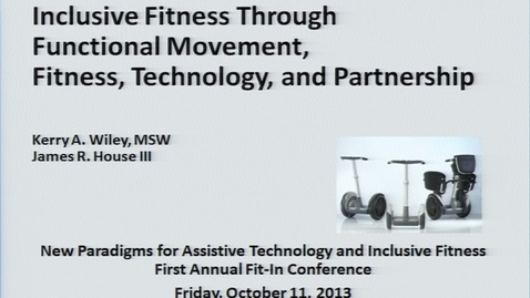 Thumbnail for entry First Annual Fit-IN Conference - 20131011-1400 - Perspectives Adulthood