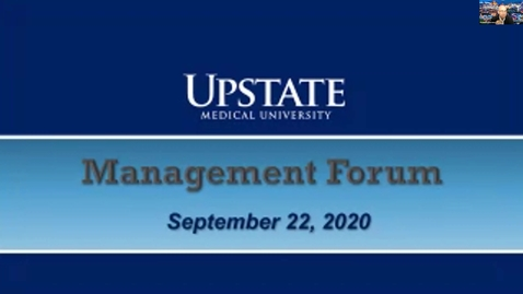 Thumbnail for entry Management Forum 9-22-20