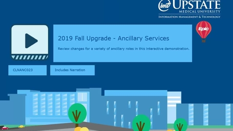 Thumbnail for entry 2019 Fall Epic Upgrade -Ancillary Users - Storyboard