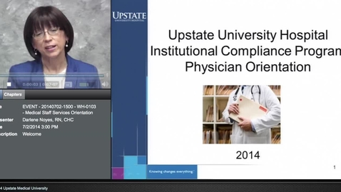 Thumbnail for entry Credentialed Provider Orientation - Compliance