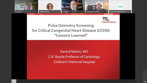 Thumbnail for entry Pediatric Grand Rounds - Gersony Lecature (2nd) - September 30, 2020