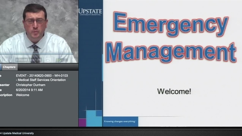 Thumbnail for entry Credentialed Provider Orientation - Emergency Procedures