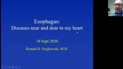 Thumbnail for entry 9/18 Esophageal disorders by Dr. Szyjkowski
