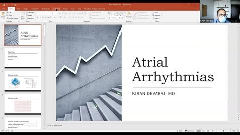 Thumbnail for entry 8/25 Atrial Arrhythmias by Dr. Devaraj