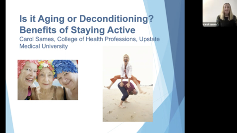 Thumbnail for entry Healthlink-Is it Aging or Deconditioning? Benefits of Staying Active