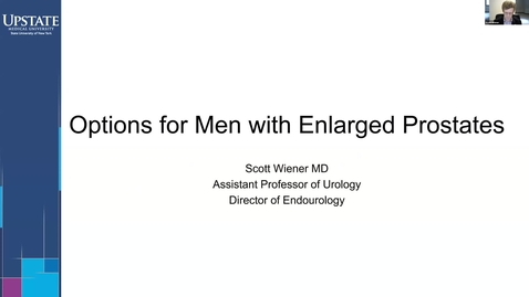 Thumbnail for entry Options for Men with Enlarged Prostates - HealthLink