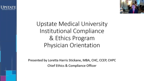 Thumbnail for entry Credentialed Provider Orientation-Institutional Compliance and Ethics