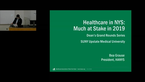 Thumbnail for entry Dean's Grand Rounds-Live Stream Event/Recording 3/21/2019